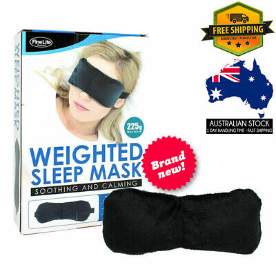 AU16.99 • Buy Weighted Sleep Mask Travel Meditation Relaxation Eye Cover Patch  Black 225g AU