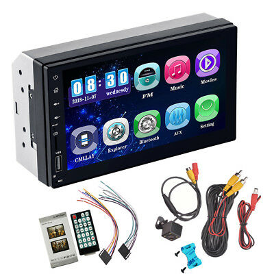 $62.70 • Buy Android 8.0 7  2 DIN Car GPS HD Bluetooth Stereo Radio FM MP3 MP5 Player In-Dash