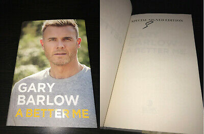 Gary Barlow Hand Signed Book Take That Autograph Coa A Better Me • 39.99£