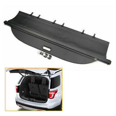 $100.25 • Buy Rear Trunk Cargo Cover Security Shield Shade Black Fits Ford Explorer 2011-2018