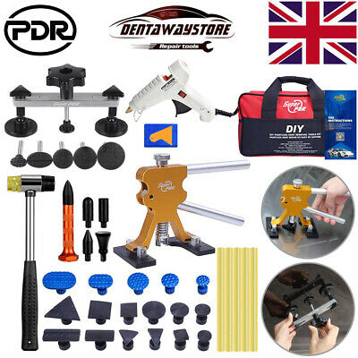 PDR Tools Auto Body Paintless Hail Removal Dent Puller Lifter Tap Hammer DIY Kit • 35.18£
