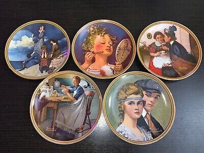 $ CDN22.56 • Buy NORMAN ROCKWELL Plate Collection Rediscovered Women 5 Pieces
