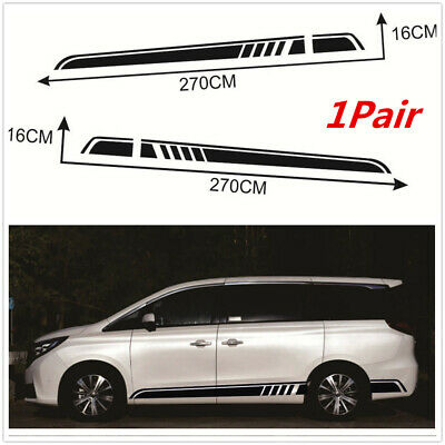$19.15 • Buy 1 Pair Vinyl Stripe Graphics Stickers Decals For Car SUV Body Sides Door Skirt