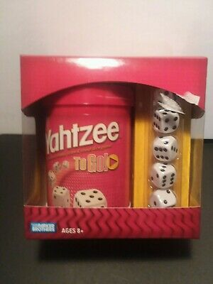 AU17 • Buy Yahtzee To Go Shake Score & Shout Dice Game Parker Brothers Travel Hasbro New