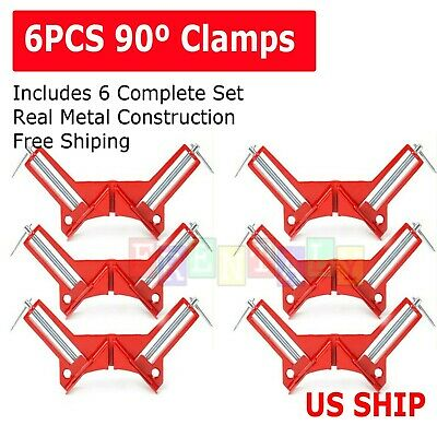 $17.95 • Buy 4X 90°Degree Right Angle Picture Frame Corner Clamp Holder Woodworking Hand Kit