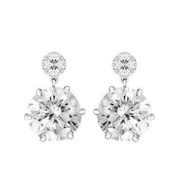 3Ct Signity Diamond Prong Set Drop Earrings Set In 925 Sterling Silver • 18£