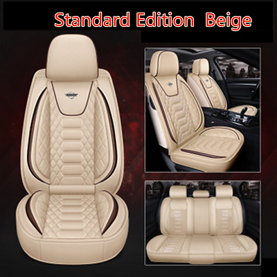 $ CDN163.47 • Buy 5-Seats Front+Rear PU Leather Seat Covers Cushion For Car Interior Accessories