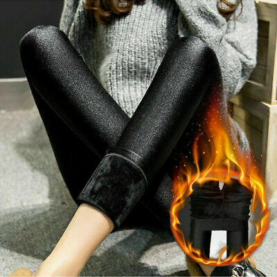 £5.89 • Buy Women Winter Thick Extra  Warm Soft Fleece Lined Thermal Stretchy Leggings Pants