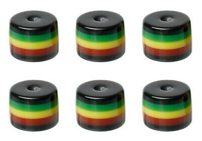 $7.51 • Buy RASTA Beads ~ Green Red Black Yellow Striped Barrel Tube Shape Resin Bubblegum