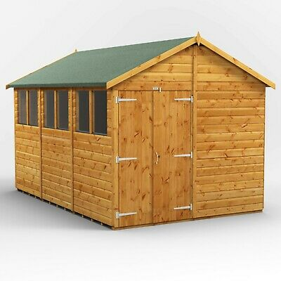 £2394 • Buy Power Apex Garden Shed | Power Sheds | Wooden Workshop | Sizes 12x8 Up To 20x8