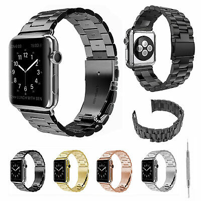 $ CDN15.13 • Buy Stainless Steel Band Link Strap For Apple Watch Series 5 4 3 2 40/44mm 38/42mm