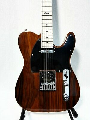 AU172 • Buy Haze 01M 830C Solid Body LightWeight T Style Electric Guitar,SS,CocoBolo Top+Bag
