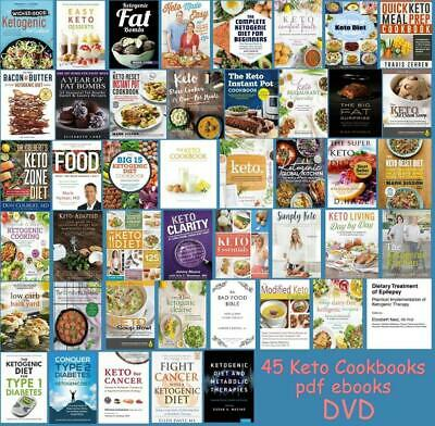 $17.99 • Buy #1 LOT 44+ Keto Diet Cookbooks PD F Bundle On DVD Instant Pot Fat Bombs Low Carb
