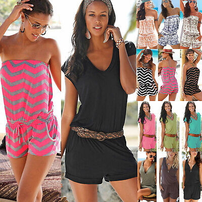 Womens Holiday Playsuit Romper Ladies Jumpsuit Summer Beach Dress Shorts Casual • 11.87£