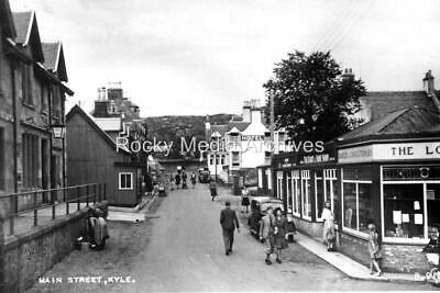 Trl-72 Animated, Main St, Kyle Of Lochalsh, Ross-shire 1930's. Photo • 3.25£