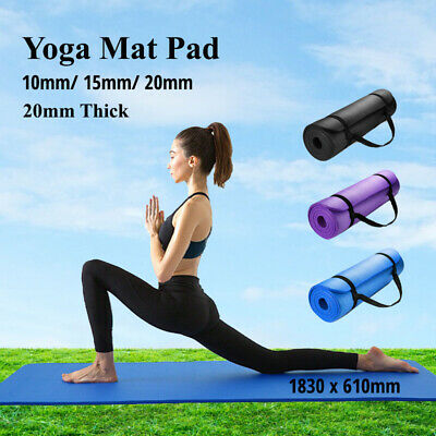 AU38.99 • Buy Thick Yoga Mat Pad NBR Nonslip Exercise Fitness Pilate Gym Durable 10/15/20MM AU