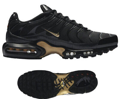 $154.99 • Buy New NIKE Air Max Plus TN Classic Men's Athletic Sneakers Black Gold Sizes 9-13