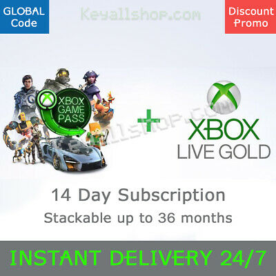 $3.50 • Buy Xbox Live 14 Day Gold Trial + GAME PASS Ultimate - 2 Weeks 14 Days Xbox One / PC