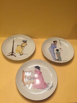 $ CDN29.27 • Buy Norman Rockwell's Collectible Plates Lot Of 3 By Zelda's Of Apple Valley