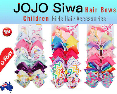AU9.80 • Buy 6pcs Signature Jojo Siwa Bows Girls Fashion Hair Accessories Party Gift AU