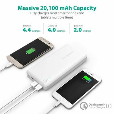 AU91.77 • Buy RAVPower USB C Battery Pack 20100 Portable Charger QC 3.0 Qualcomm Power Bank