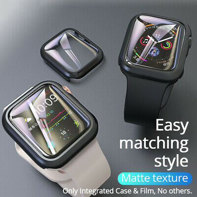 $ CDN5.18 • Buy For Apple IWatch 5 4 3 2 Full Cover Bumper Case With Film Watch Screen Protector