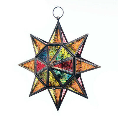 $26.88 • Buy Gallery Of Light - Multi Faceted Colorful Star Lantern