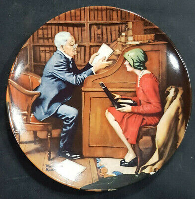 $ CDN11.77 • Buy The Professor #10 Norman Rockwell Heritage Collection Knowles Series Plate