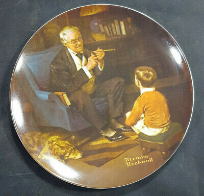 $ CDN14.77 • Buy Vtg 1982 Knowles THE TYCOON Norman Rockwell Plate Rockwell Heritage Collection