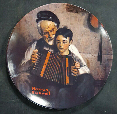 $ CDN14.77 • Buy Vintage 8.5  KNOWLES Norman Rockwell Plate THE MUSIC MAKER 1981