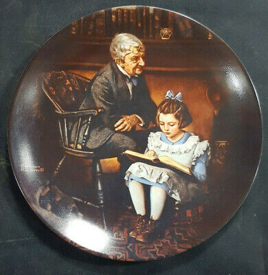 $ CDN14.77 • Buy Norman Rockwell 1991  The Young Scholar  Knowles Limited Edition Plate