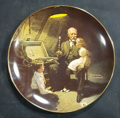 $ CDN14.77 • Buy Norman Rockwell Collector Plate Knowles  Grandpa's Treasure Chest