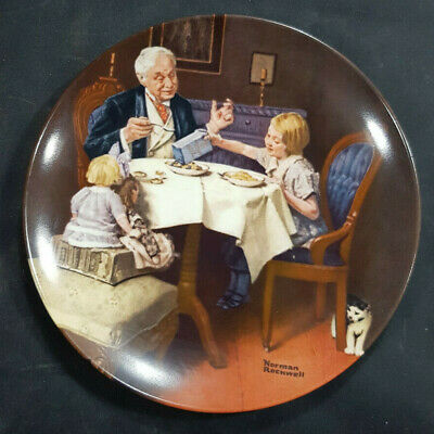 "$ CDN14.77 • Buy Knowles ""The Gourmet"" Norman Rockwell Collector Plate Limited Edition"