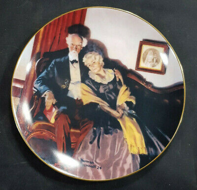 $ CDN14.77 • Buy Norman Rockwell Knowles China  End Of Day  Golden Moments Collection Plates