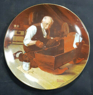 $ CDN14.77 • Buy 1987 Norman Rockwell Collector Plate  Grandpa's Gift  Knowles China