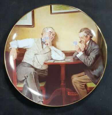 $ CDN14.77 • Buy Norman Rockwell Knowles China  Best Friends  Golden Moments Collection Plates