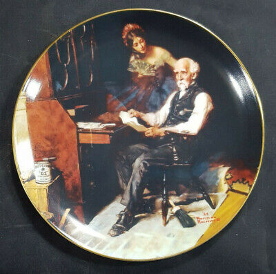 $ CDN9.77 • Buy Vintage Norman Rockwell THE LOVE LETTERS Knowles China Limited Edition Plate