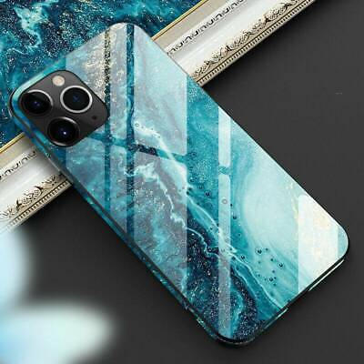 AU6.09 • Buy Hybrid Marble Tempered Glass Hard Case Cover For IPhone 11 Pro Max XS XR X 6 7 8