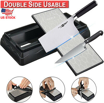$7.99 • Buy Double Sided Diamond Whetstone Sharpening Water Wet Stone Knife Sharpener Grit