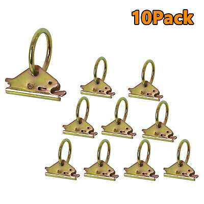$16.59 • Buy 10 X Steel E-Track Fitting O Ring Tie-Down Anchors 1500 Lbs TieDown Secure Cargo