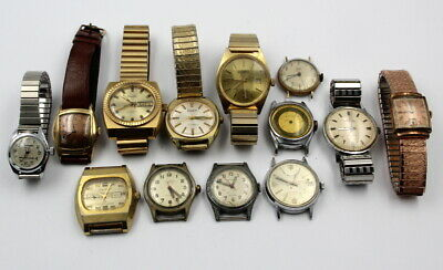 $ CDN49.17 • Buy Lot Of 13 Miscellaneous Vintage Watches Mechanical/auto  547.9 Grams Nr# 7365-2