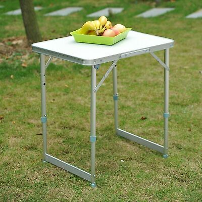 £29.99 • Buy Picnic Table Patio Outdoor Folding Portable Camping Square Top Dining Aluminum