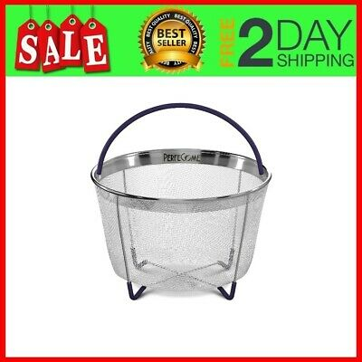 $18.88 • Buy Steamer Basket For 6 Qt Pressure Cooker, Instant Pot 6 & 8 Quart  With Silicone