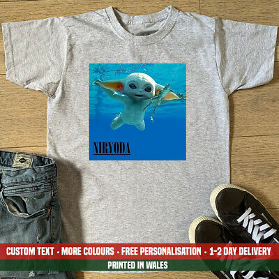 Niryoda T-shirt Funny Nirvana Yoda Baby Swimming Star Swim Gift Wars Me Top • 10.99£