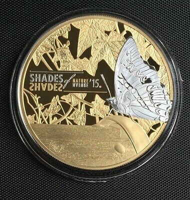 $70 • Buy Cook Islands 2015 $5 Shades Of Nature - Butterfly 25g Silver Proof Coin