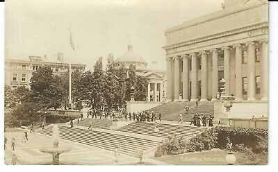 $20 • Buy Columbia University Fowler Real Photo Pc, Students On Library Steps, Nyc