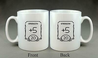 £8.99 • Buy Stat Mug Personalised Dungeons And Dragons D&D TTRPG Dice Game DnD Gift Present