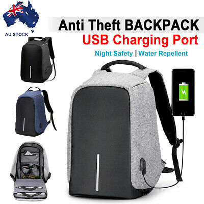 AU15.99 • Buy Anti-Theft Laptop USB Port Travel Backpack Travel Bag Water Repellent School AU
