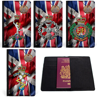 Personalised Military Passport Case Travel ID Card Holder Official Product  • 8.95£