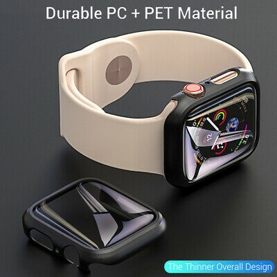 $ CDN4.84 • Buy For Apple Watch Series 5 4 3 2 1 40/44MM Full Cover Case Shell With Screen Film